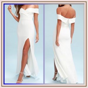 Song Of Love Off The Shoulder Maxi Dress